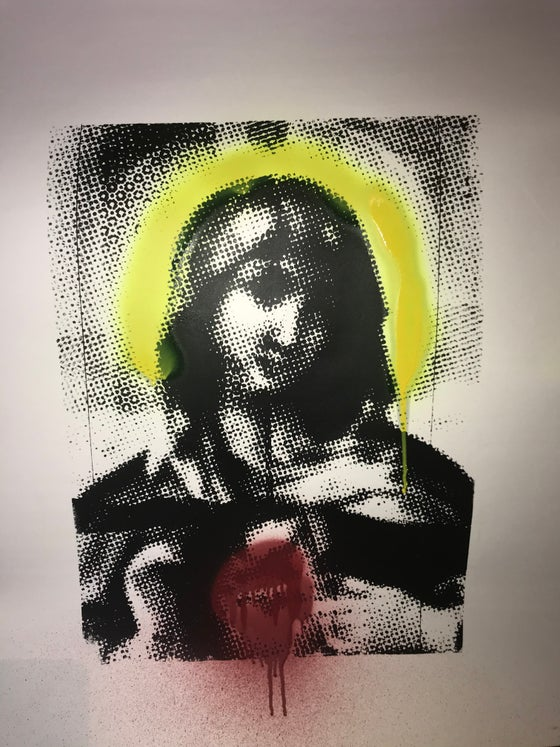 Image of Dot Screen Madonna Single Print