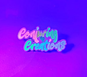Image of 🍭 White Candy Conjuring Creations Logo Pin 🍭