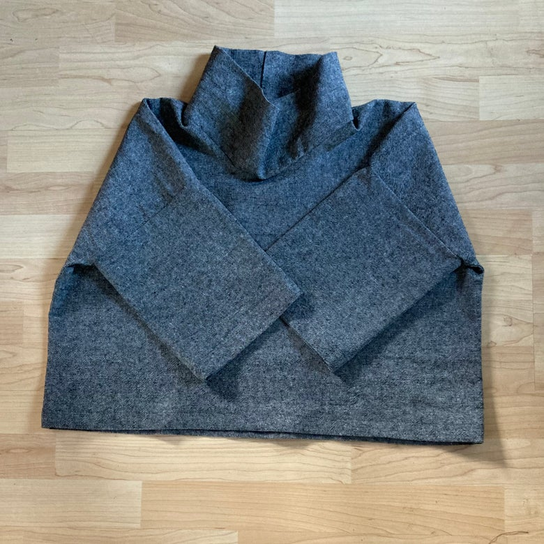 Image of Drop-Shoulder Mock Neck - Charcoal
