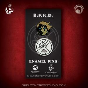 Image of Hellboy/B.P.R.D.: Limited Edition Kate Corrigan & B.P.R.D. Logo set! RESTOCKING SOON!