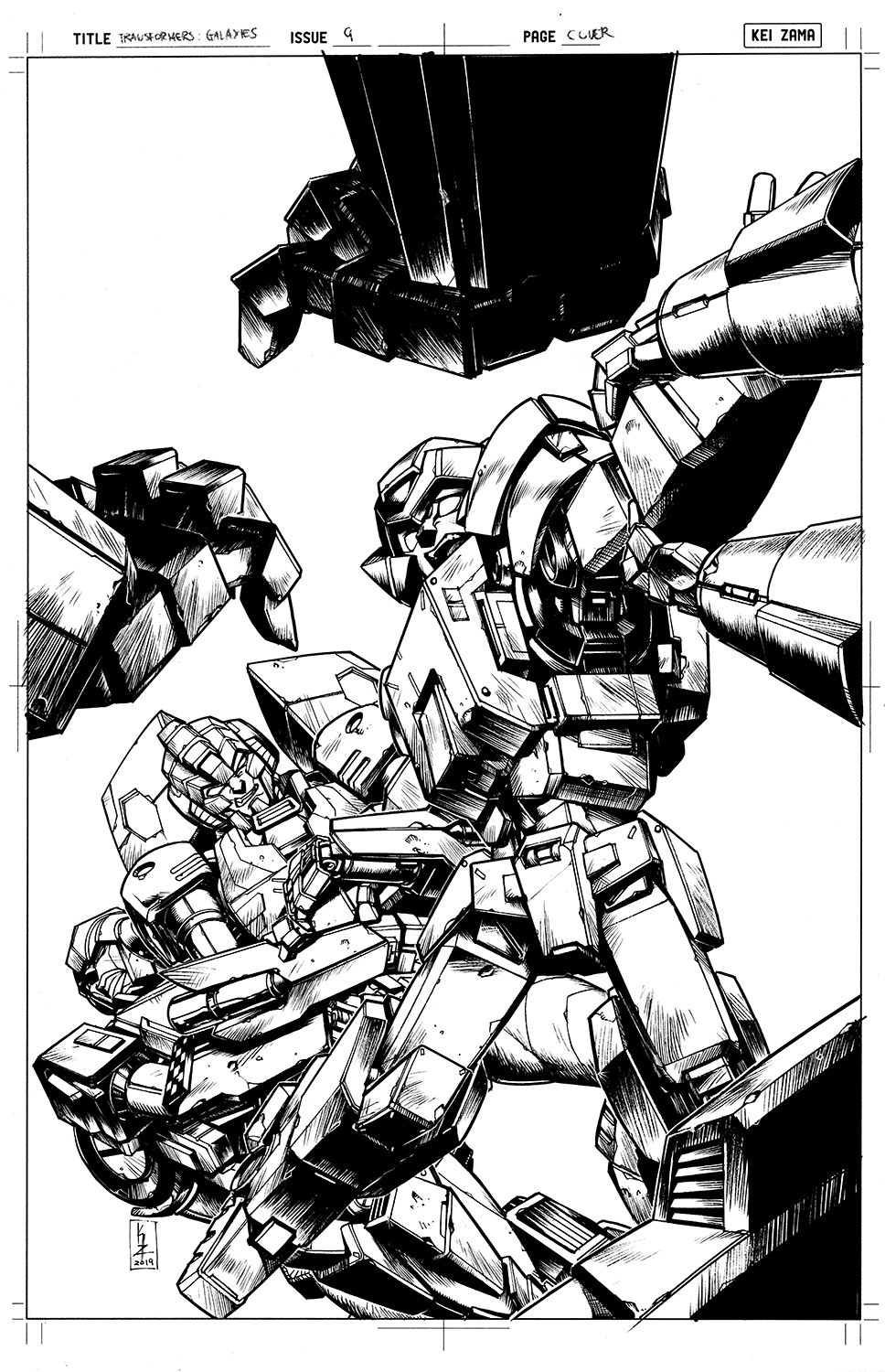 Transformers Galaxies #9 Cover