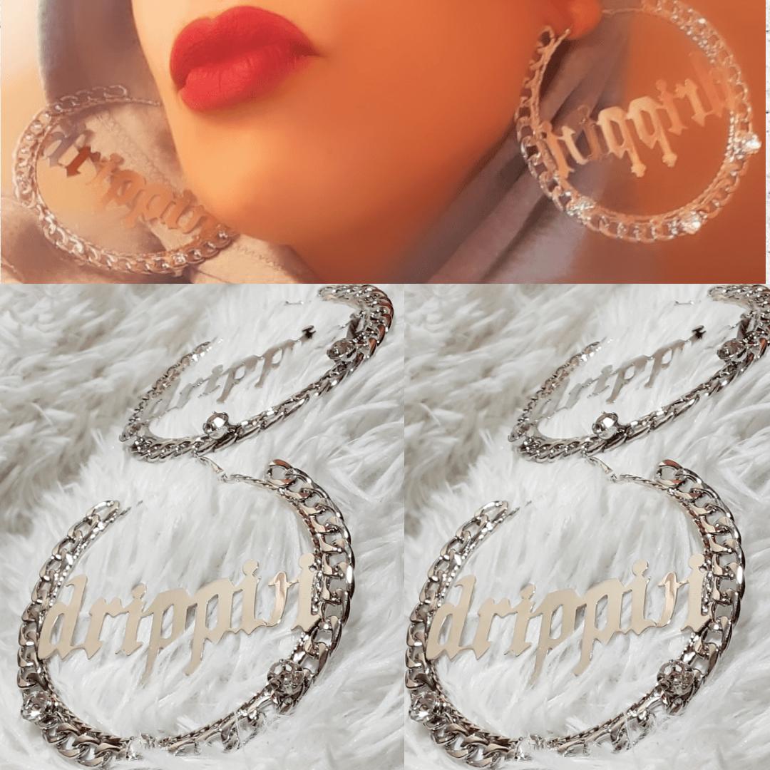 Image of Saucy Big Drip Hoop Earrings