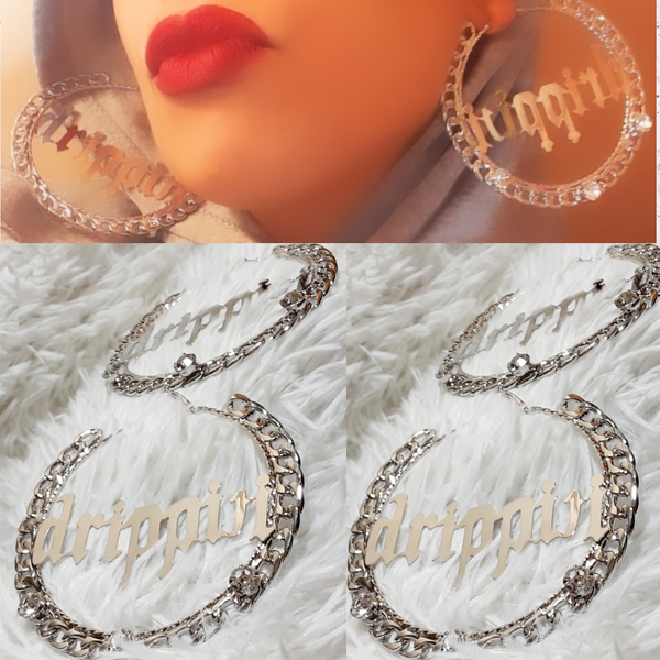 Image of Saucy Big Drip Hoop Earrings