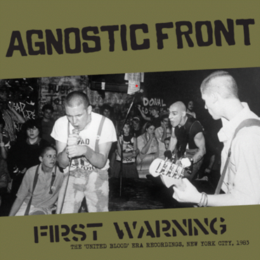 """AGNOSTIC FRONT """"First Warning"""" LP"""