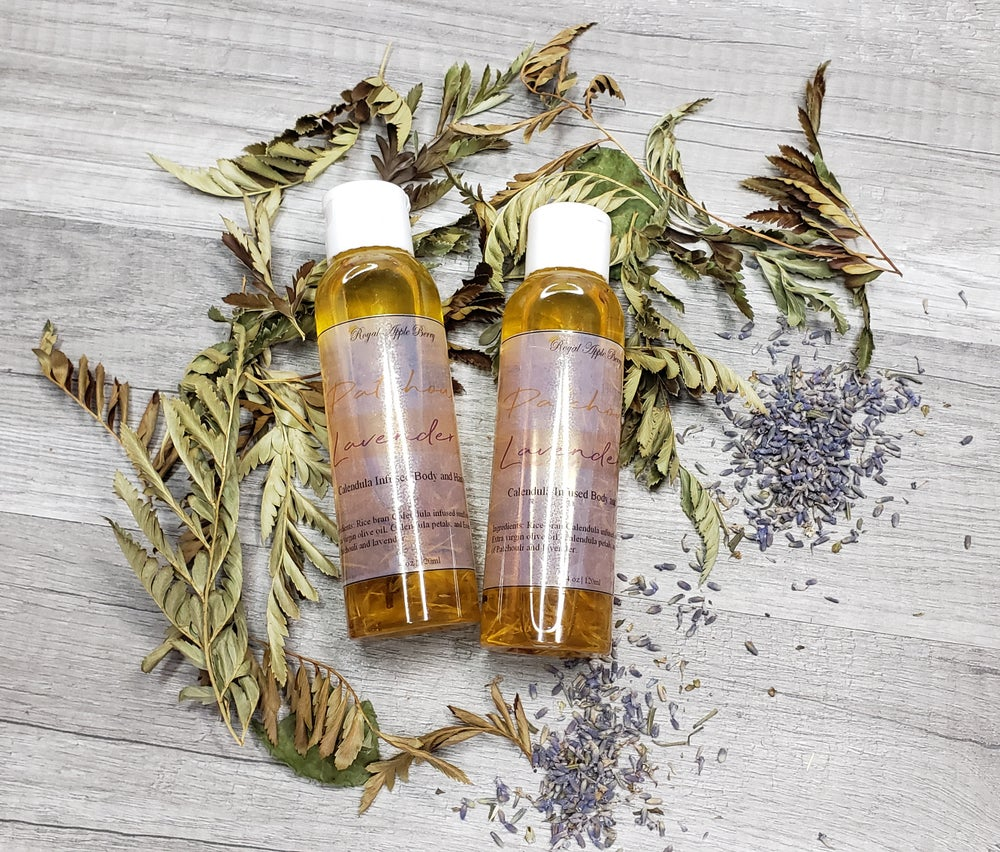 Image of PATCHOULI LAVENDER BODY AND HAIR OIL