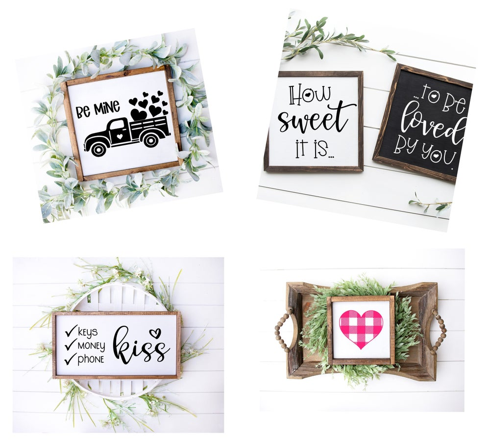 Image of 2021 Valentine's Inspired Stenciled Projects
