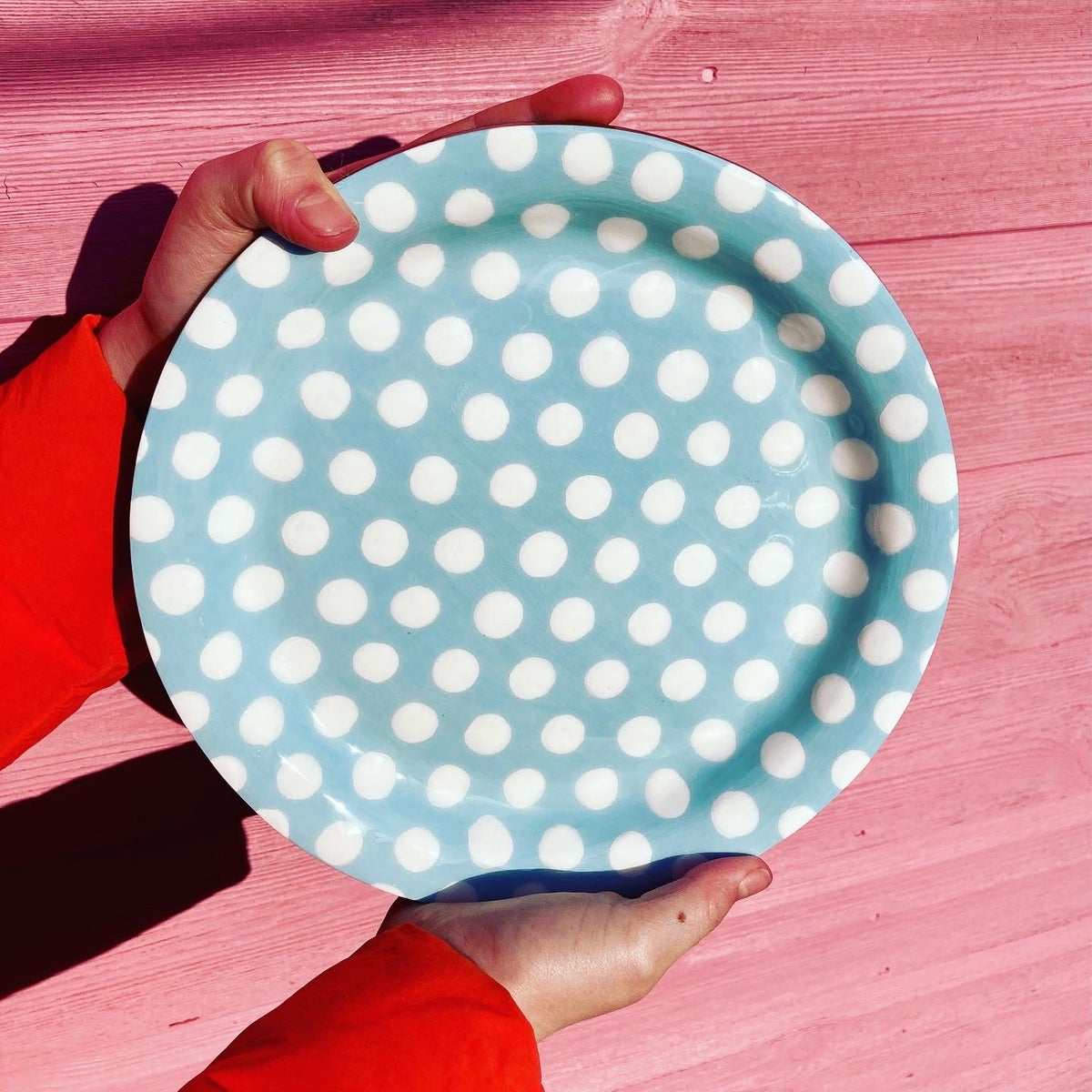Everyday Plate Blue/White Spot