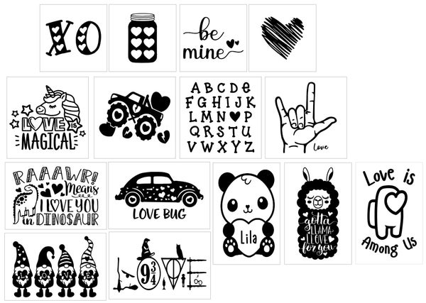 Image of 2021 Valentine's Inspired Stenciled Projects for Kids & Teens