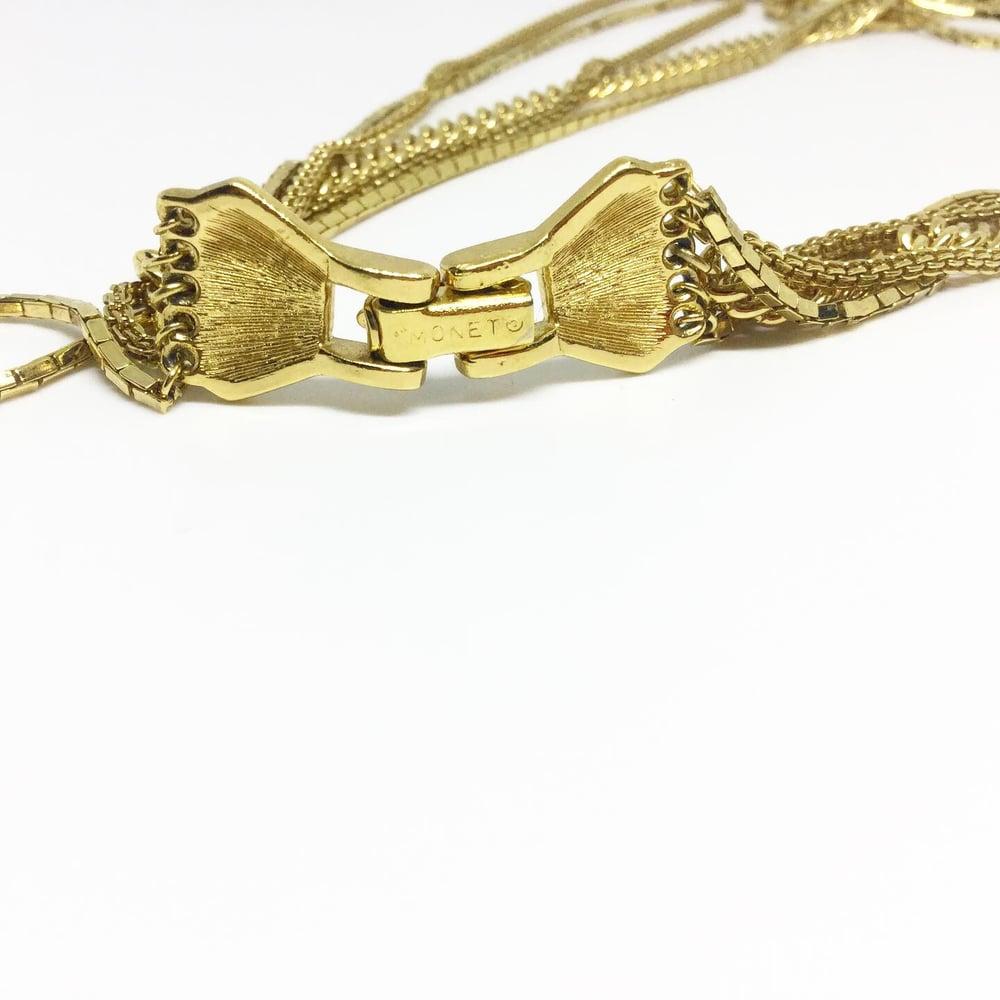 Image of Vintage Multi Chain Monet Necklace