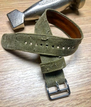 Image of Hand-rolled SP strap - Sanded Military Green