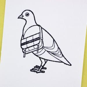 """The Deliverator"" Postal Pigeon Rubber Stamp"