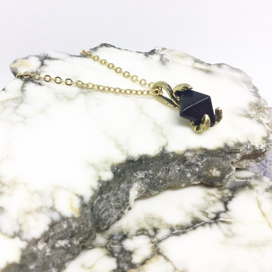 Image of Black Onyx Pyramid Pendant
