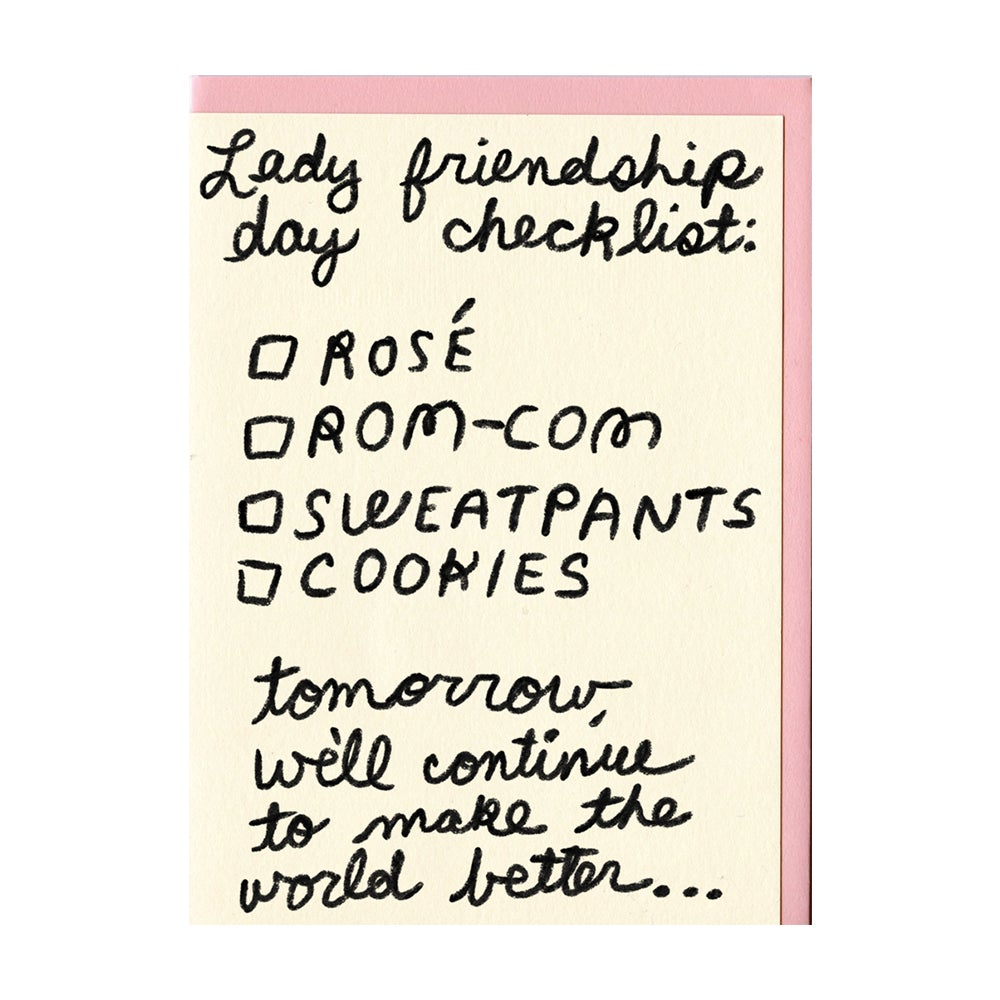 Image of Lady Friendship Card