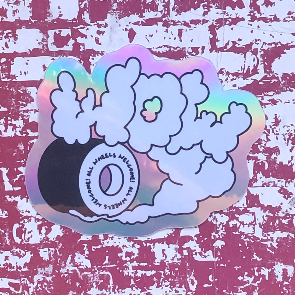 WOW! Holographic Sticker