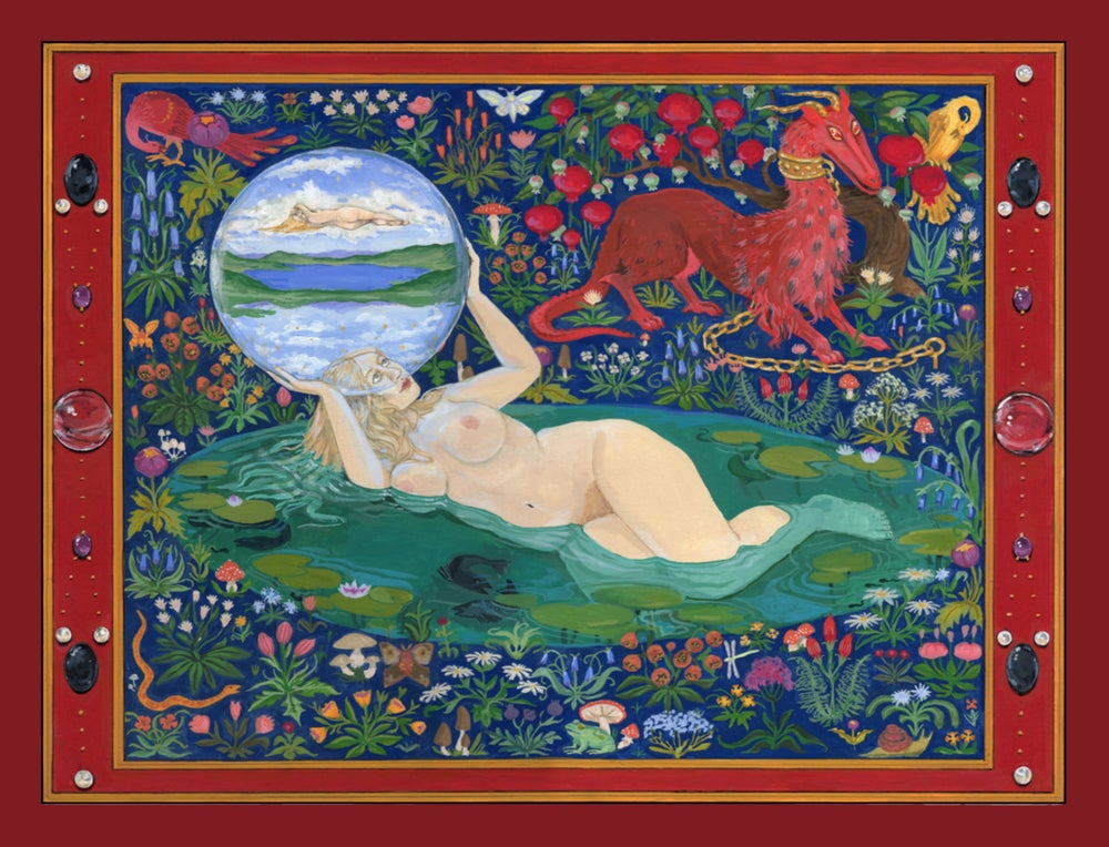 Image of Idolon Tapestry Postcard