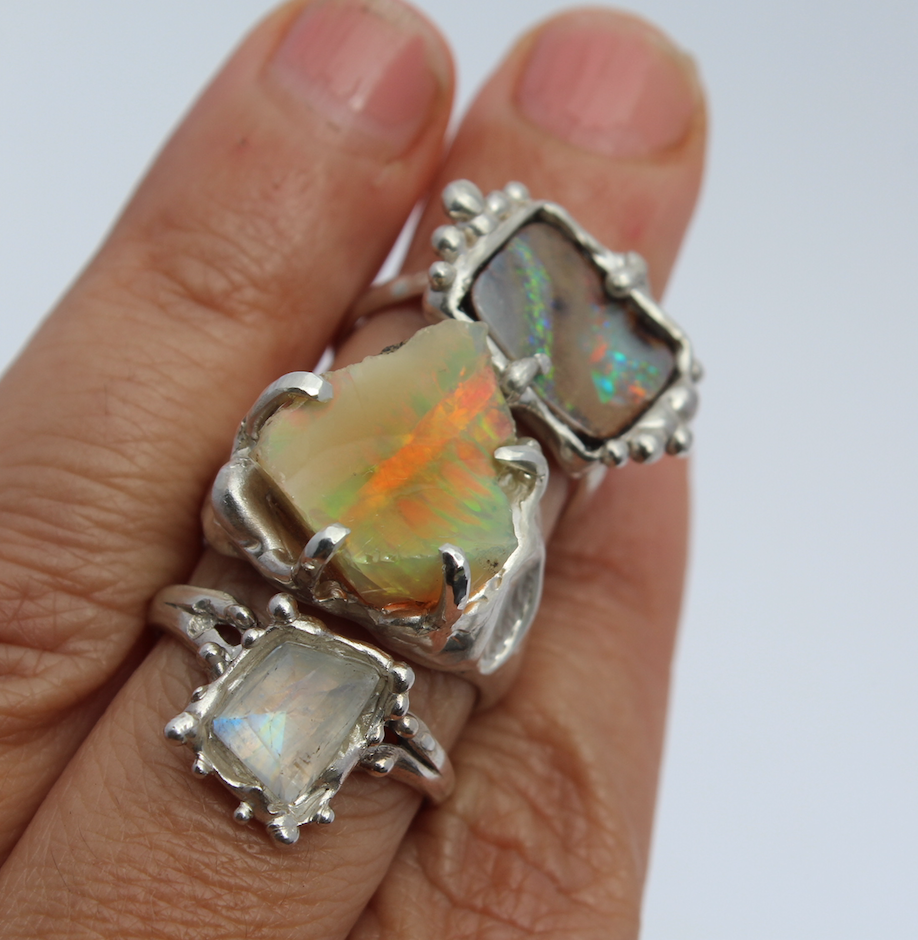 Image of Flash Fire Ring - Ethiopian Opal