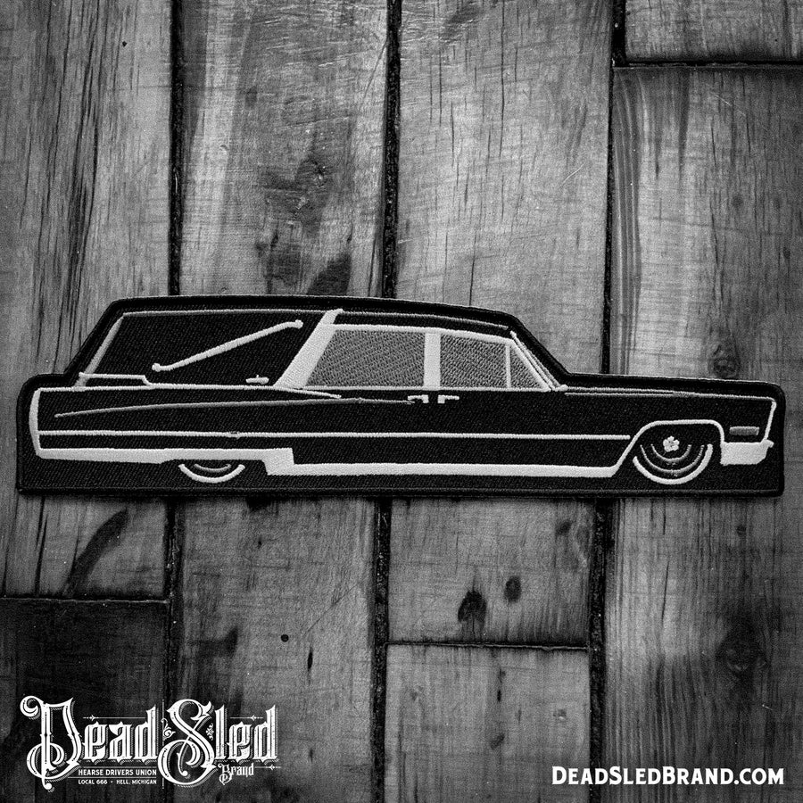 Image of Black Betty 8-Inch Hearse Patch