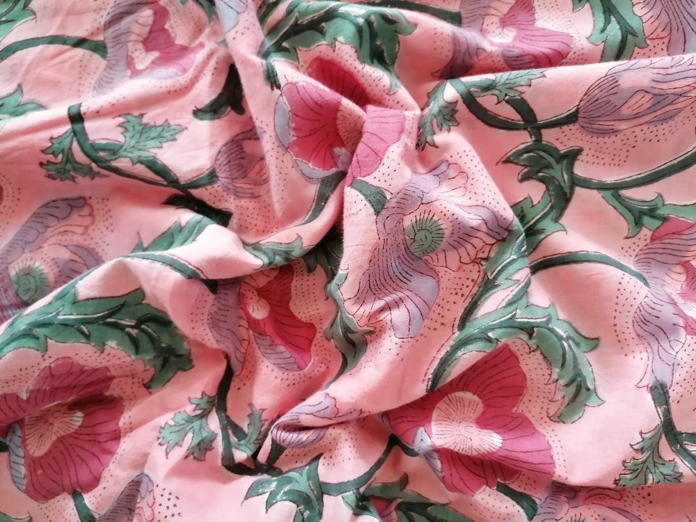 Image of Namasté fabric soleil levant rose