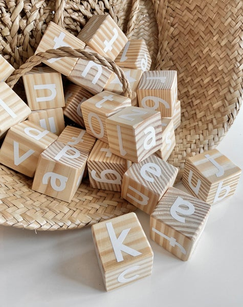 Image of Natural Alphabet Blocks