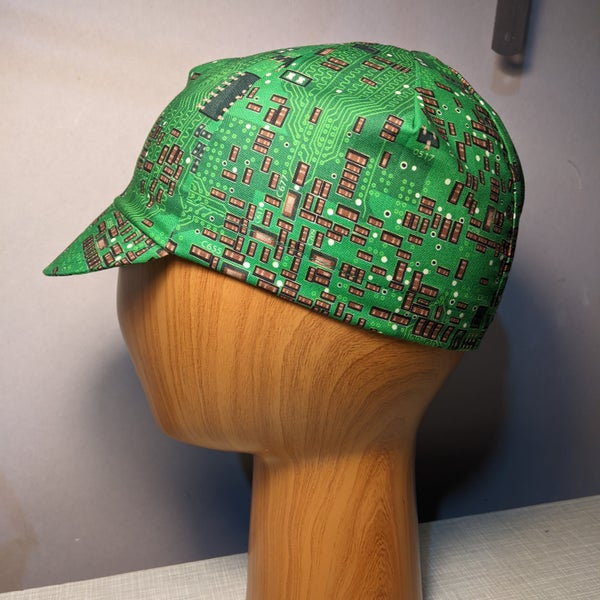 Image of Cotton cycling cap - circuits