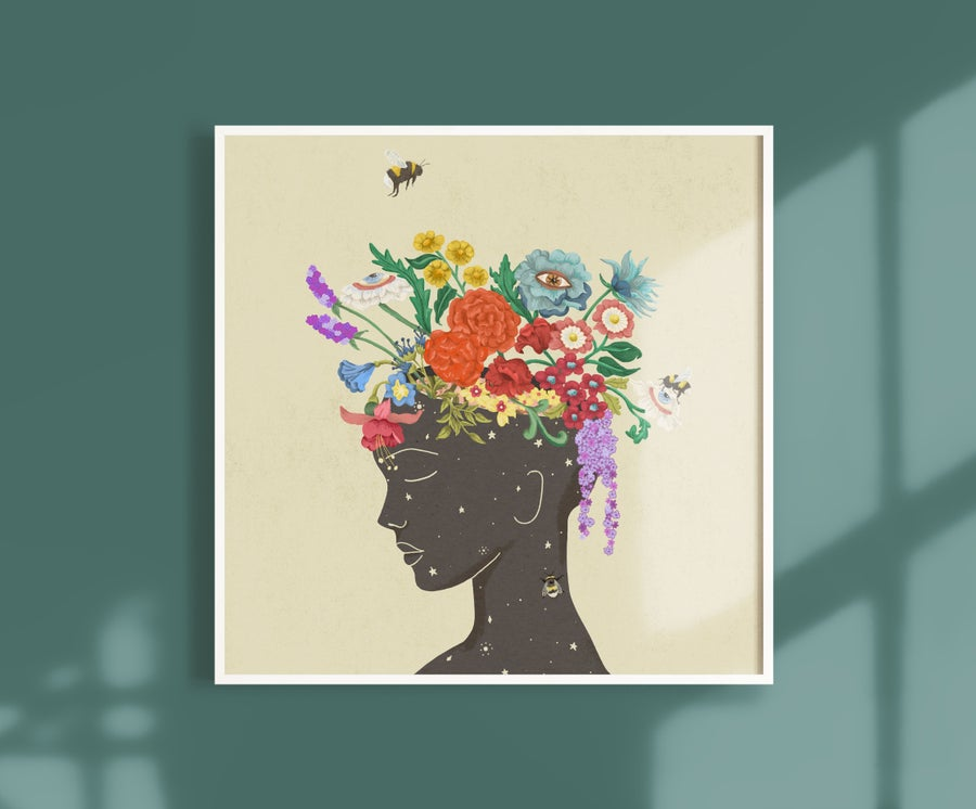 Image of Square Giclèe Print | Flourishing Lady