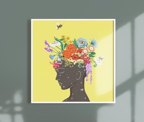 Image of Square Giclèe Print   Flourishing Lady