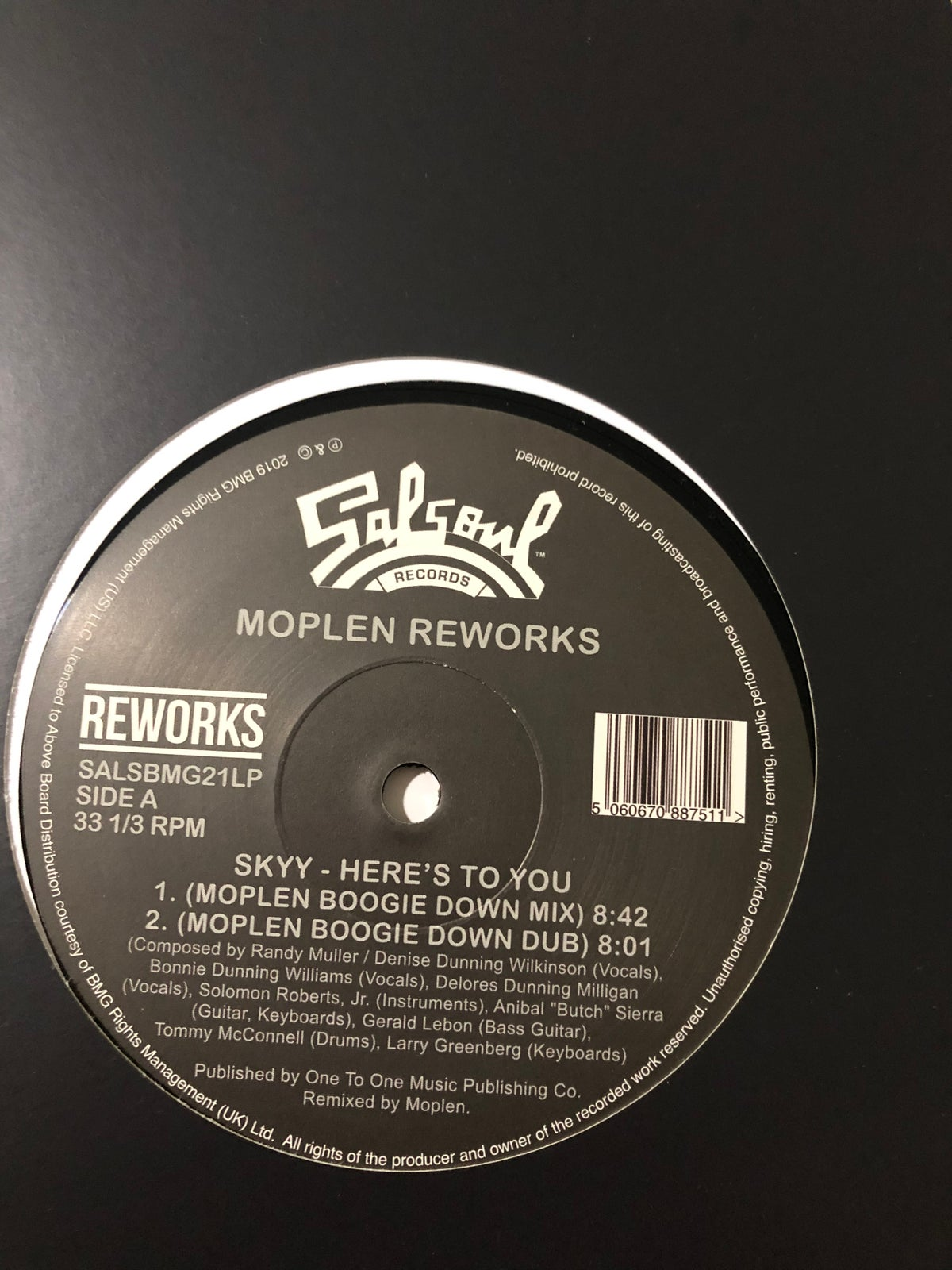 Image of Skyy - Here's to you (Moplen Reworks) - Salsoul Records