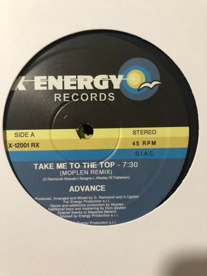 Image of Advance - Take me to the top (Moplen Remix) - X Energy Records