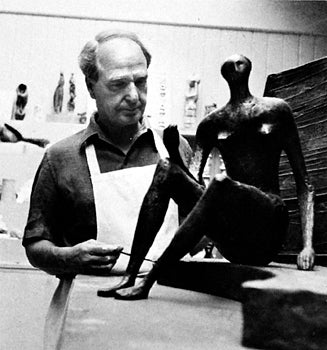 Image of henry moore / pottery from figures / 23/500a/b/c