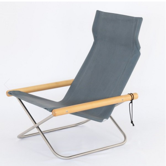 Image of NY Folding Chair X Lounge - Takeshi Nii Nychair X - Natural
