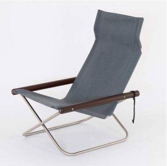 Image of NY Folding Chair X Lounge - Takeshi Nii Nychair X - Dark Brown