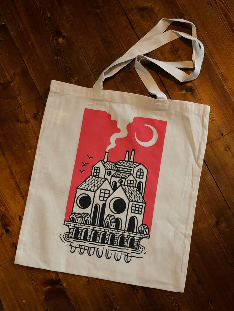 Image of Skull house tote
