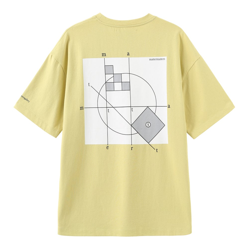Matter Matters Oversized Tee / Looking at - Yellow