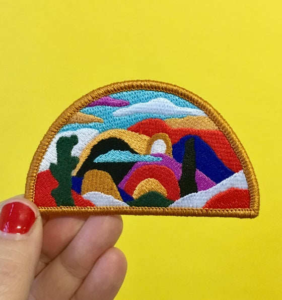 Image of Half Moon Landscape- Iron on Patch