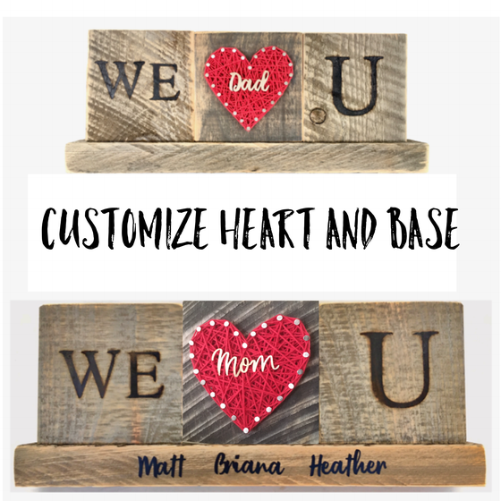 Image of Custom We love you sign