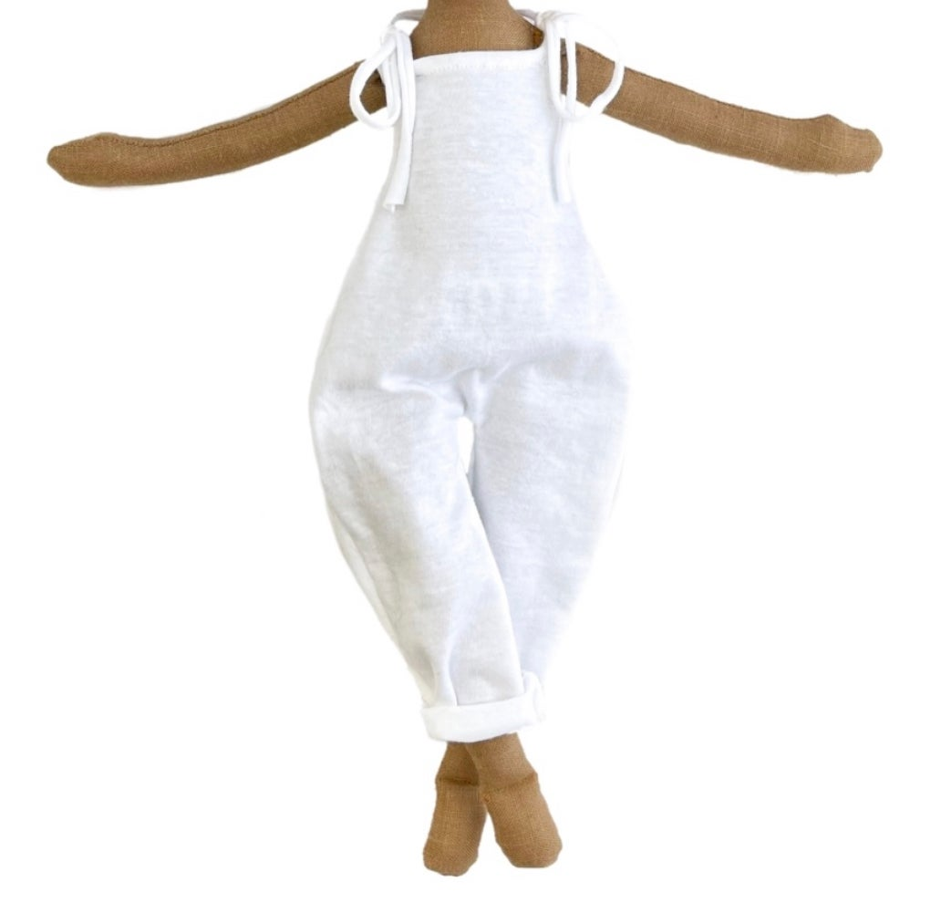 White Tshirt Jumper - Doll Accessory (SHIP DATE: ON OR BEFORE JULY 1ST)