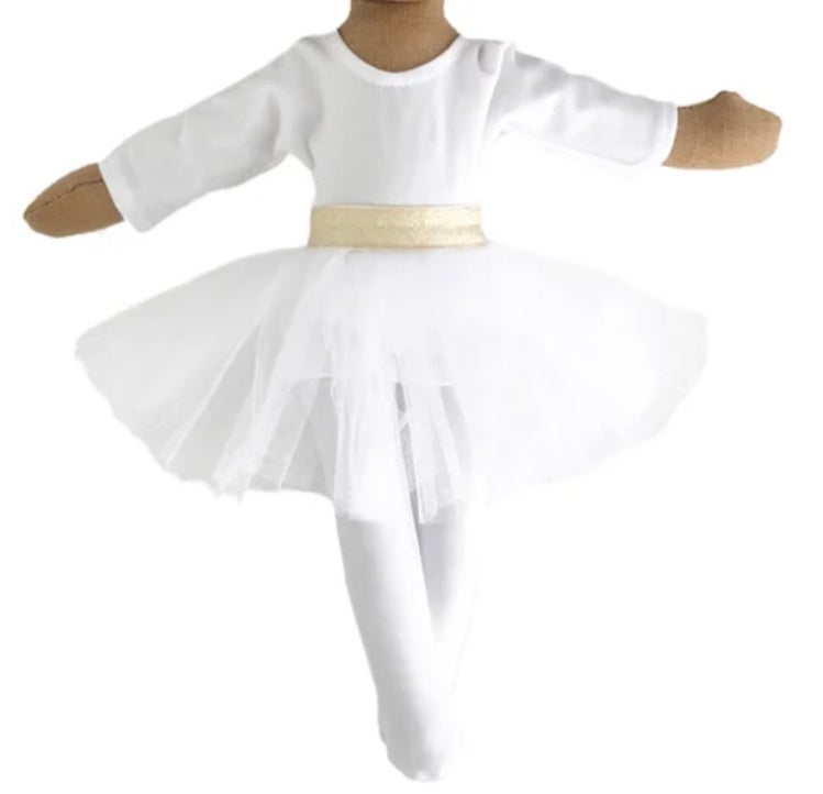 3 pc White Ballerina outfit - Doll Accessory (Waitlist Preorder Item - ship date Oct 1-Mar 30,2022)