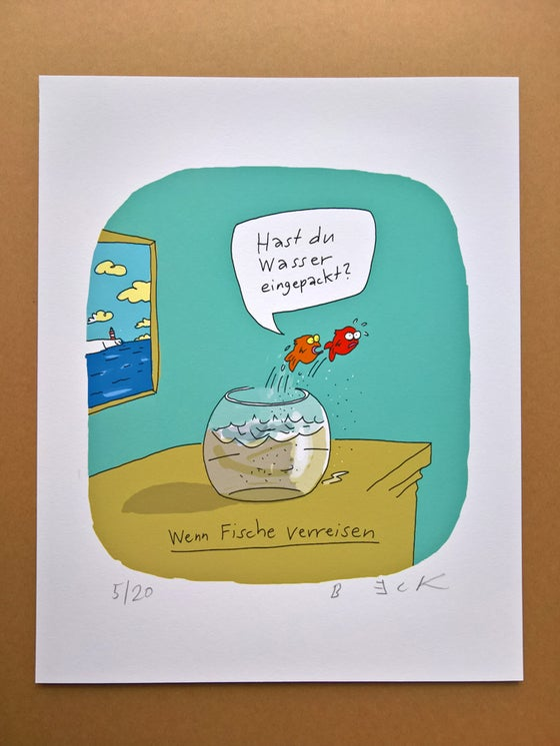 Image of Fische verreisen - Print