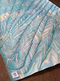 Shades of Blue Collection - Spanish Wave Marbled Paper 1/2 sheets
