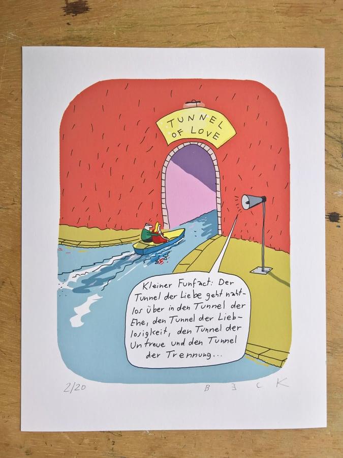 Image of Tunnel der Liebe - Print