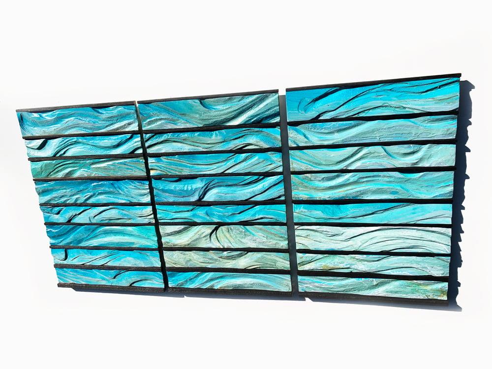 Image of Pelagic Zones Large Modern Wall Sculpture