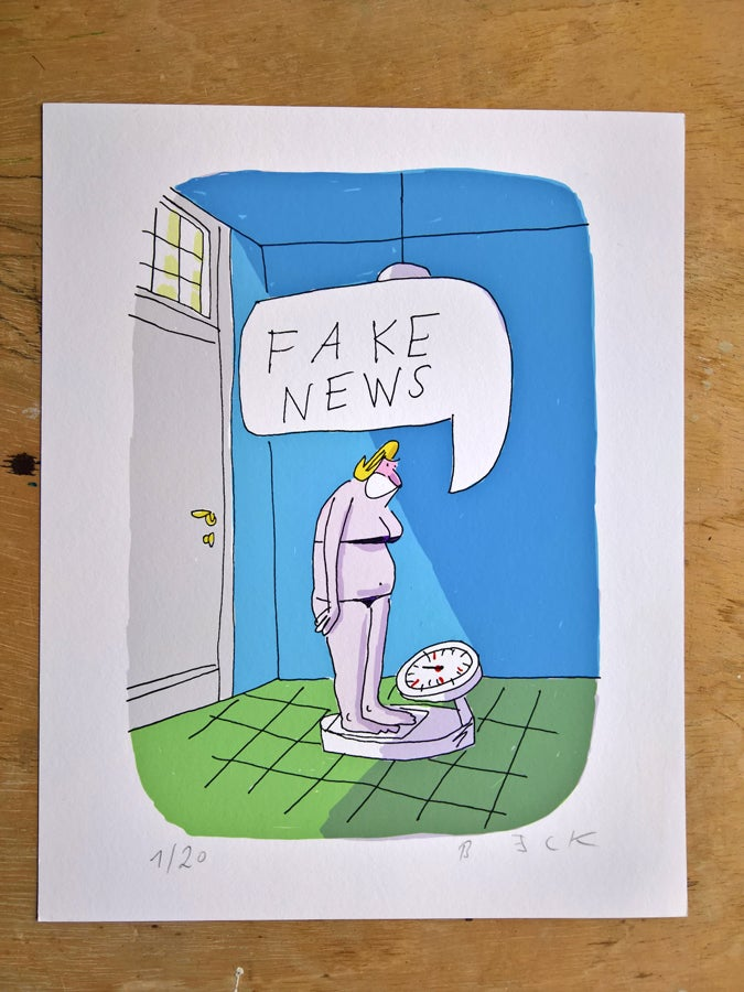 Image of Fake news - Print