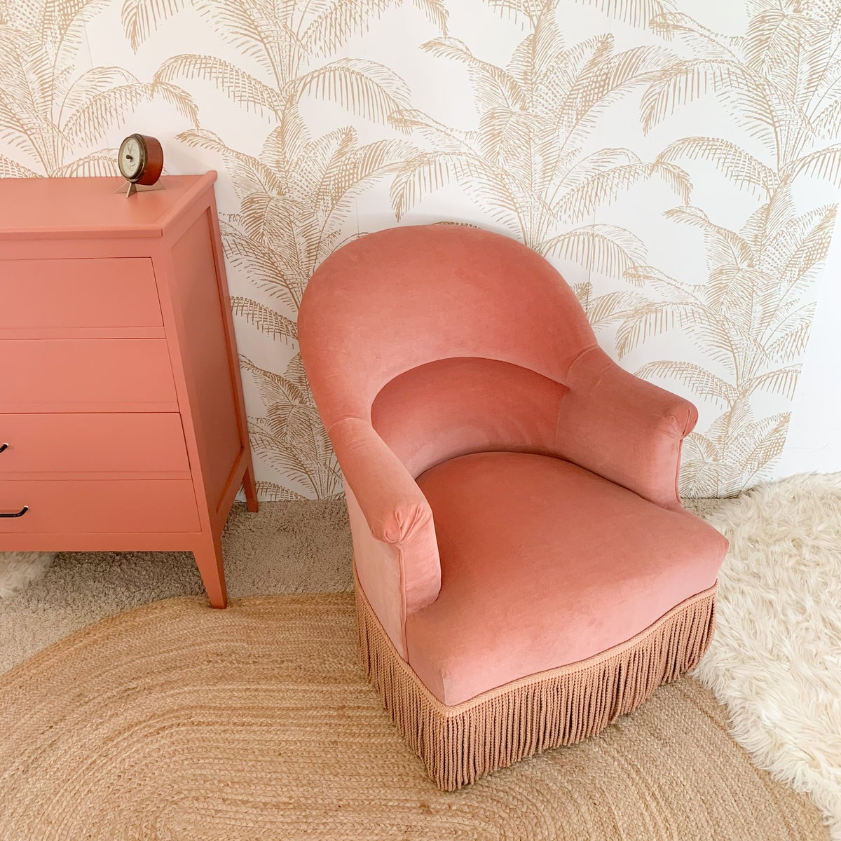 Image of VENDU/SOLD OUT Fauteuil Velours Gold