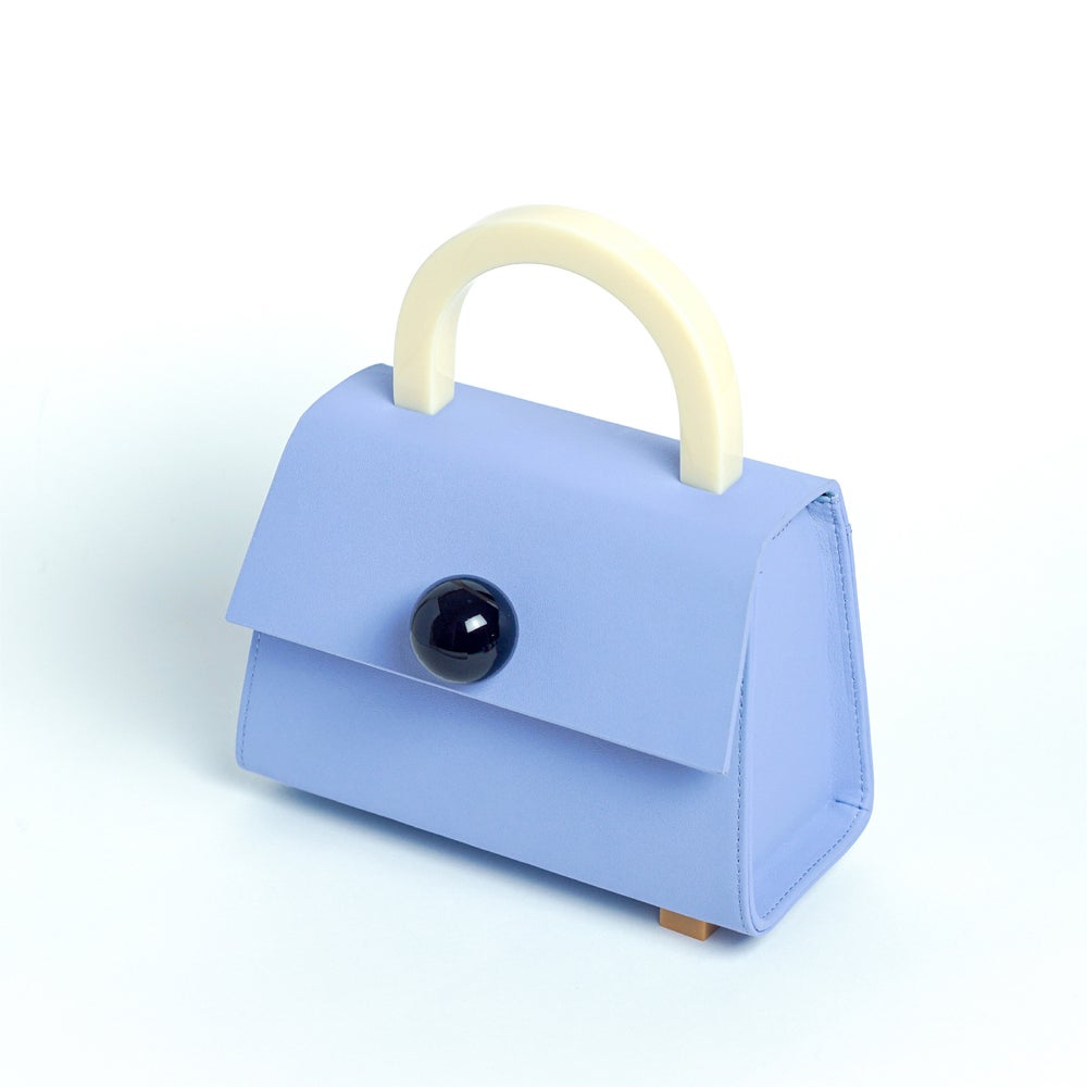 Diva satchel bag • Forget me not with strap