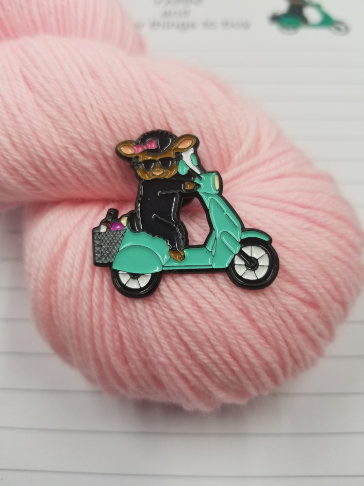 Image of Ebony The Mahogany Sheep Pin