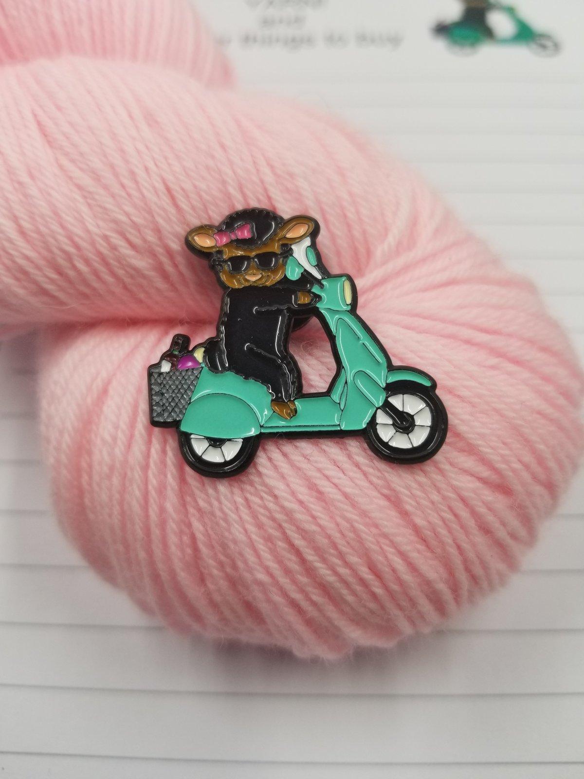 Image of Ebony The Mahogany Sheep Pin