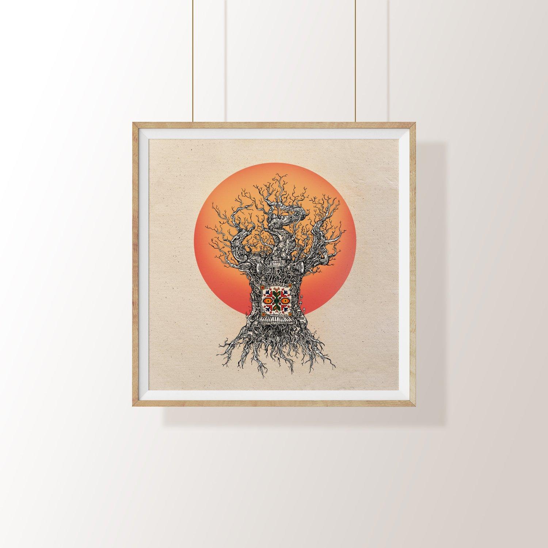 "Image of ""SLUNTSETO TREPTI"" Signed print"