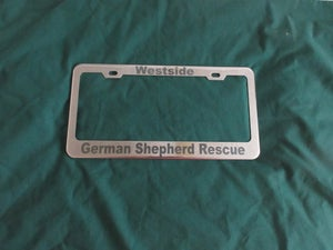 Image of License Plate Holder -  Stainless Steel