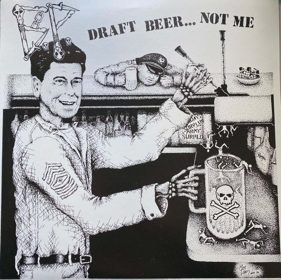 "Image of BP ""Draft Beer Not Me"" LP No Clubs! Repress on Clear Vinyl"