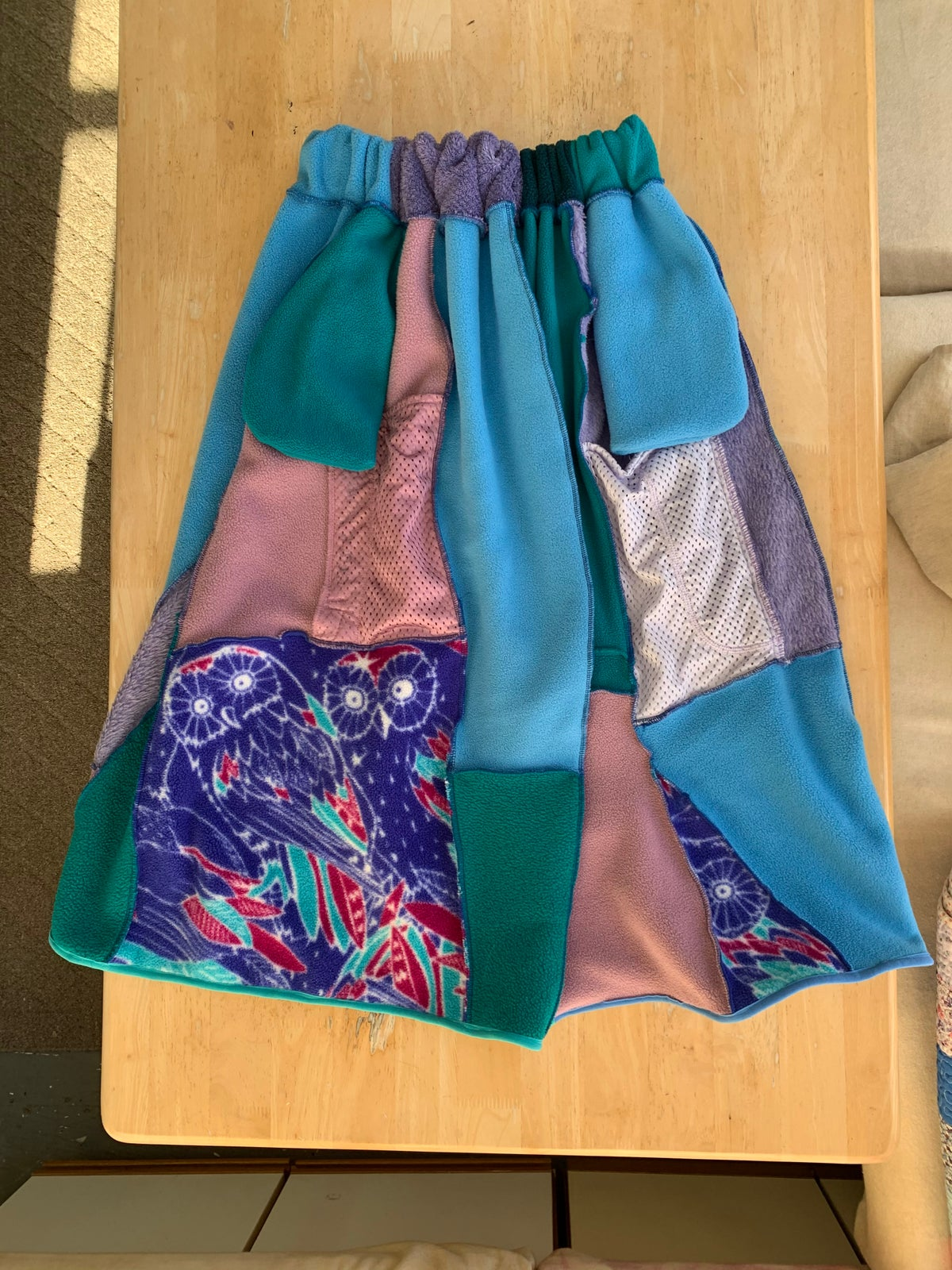 Image of Upcycled Patchwork Synchilla Spinner Skirt